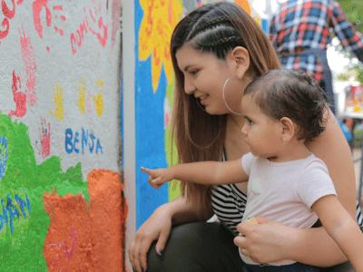 Cultiva, Integra y el colegio Nido de Águilas construyen patios que educan